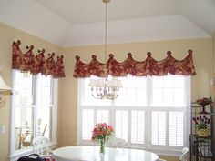 Custom valance on medallions with great trim!