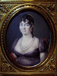 Ecole française Période Empire - Miniature portrait