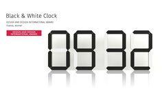 Black and White Clock Kibardin