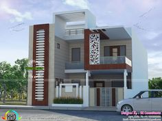 Front Exterior Design Of Indian Bungalow | 3d, Modern and Villa plan