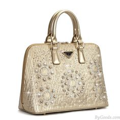 Unique Champagne Shells Gold Shiny Diamond Handbag only $49.99 in ByGoods.com!