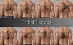My Sims 3 Blog: Tribal Animal Tattoos by Cameranutz II