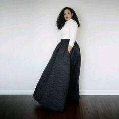 Faldas maxi para mujeres plus size                                                                                                                                                      Más
