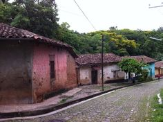 El Salvador - this old cobblestone street used to be the main entrance to Suchitoto / suchitoto.tours @gmail.com