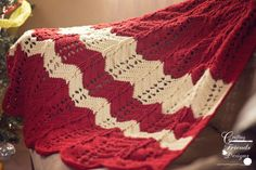 Crochet Pattern: Classic Cable Textured Chevron Afghan  - pinned by pin4etsy.com