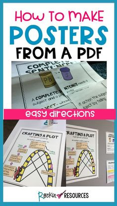 Do you want your printable posters bigger than 8.5 X 11? This post shows you step-by-step on how to make large poster-sized anchor charts for your classroom! Easy peasy!