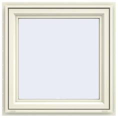 JELD-WEN 35.5 in. x 35.5 in. V-4500 Series Awning Vinyl Window – French Vanilla