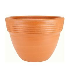 Round Terra Cotta Wide-Rimmed Clay Pot-RC2 - The Home Depot 90196cd3d836