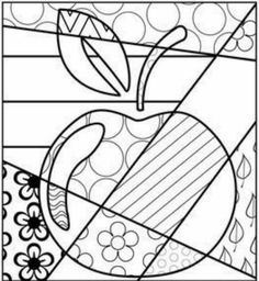 Cool tattoo idea, maybe in a watercolor design. Colouring Pages, Coloring Sheets, Coloring Books, Britto Disney, Classe D'art, Motif Art Deco, Kindergarten Art Projects, Fruit Picture, Crazy Quilt Blocks