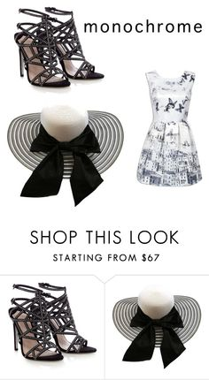 """Untitled #8"" by redbunyip ❤ liked on Polyvore featuring Lipsy and monochrome"