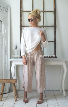 MARRAKESH Linen pants, BEIGE
