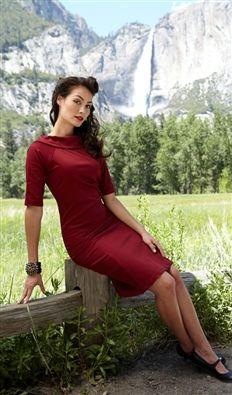 Red Fir- 1940s Wiggle Dresses