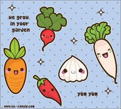 Kawaii Veggies by *A-Little-Kitty on deviantART