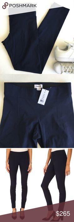 Helmet Lang Reflex Legging in Uniform Blue Helmet Lang Reflex Legging in a dark blue called Uniform. Features a slim fit and elastic waist with darting. Ankle-length. 91% viscose, 9% elastane. Dry clean only. Made USA. Brand new with tags. Please carefully review each photo before purchase as they are the best descriptors of the item. My price is firm. No trades. First come, first served. Thank you! :) Helmut Lang Pants Leggings