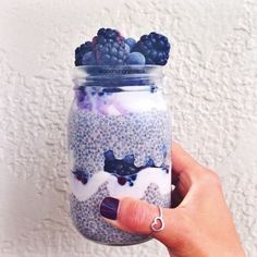 My kind of Monday blues // www.daisymoore.co.nz // @DaisyMoore.co.nz Smoothie chia greek yoghurt berries