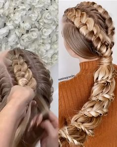 Easiest knots ever ❤️ By talented # Braids frisuren lang Knots Braids Easy Hairstyles For Long Hair, Spring Hairstyles, Braids For Long Hair, Girl Hairstyles, Wedding Hairstyles, Hairstyles Videos, Nice Braids, Images Of Hairstyle, Everyday Hairstyles