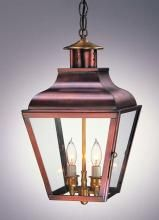 Federal Lantern - Model No. H1078G | Copper Lantern Lighting - Available in Antique Copper with Seedy Glass