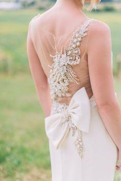 pretty back detail, I do love a big bow! Photo by CJK Visuals