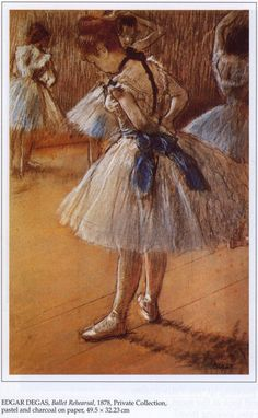 Edward Degas painted many beautiful portraits of dancers.