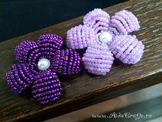 ✿ Handmade - Floare Margele - Tutorial 4 - Petala Rotunda - AidaCrafts