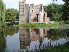 This castle is in the town where I grew up - Deurne, The Netherlands. It was destroyed by a fire on D-Day. There is a quaint petting zoo and walking trail around it now.