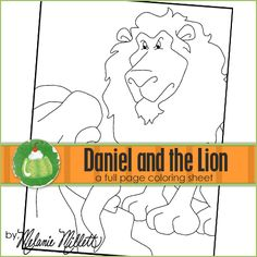 Daniel and the Lion Printable Coloring Page