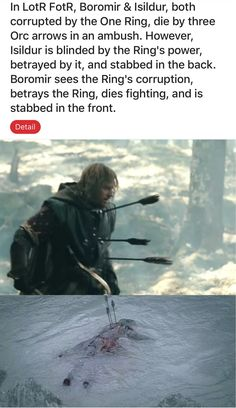 Not in the books, but I thought this was interesting (in the books Boromir became a pincushion) Aragorn, Legolas, J. R. R. Tolkien, Book Memes, One Ring, Middle Earth, Lord Of The Rings, Narnia, Movies Showing