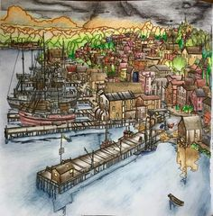 Fantastic Cities By Steve Macdonald FB Coloring BooksColouringColored