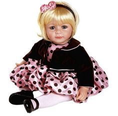 "Adora ""Pink Posh"" Doll with Light Blond / Blue Eyes outfit is so cute! Sandy Blonde Hair, Light Blonde Hair, Blonde With Pink, Blonde Hair Blue Eyes, Baby Girl Dolls, Toddler Dolls, Girl Toddler, Childrens Gifts, Christmas Gifts For Kids"