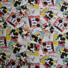 Cartoon Mickey Mouse Fabric to sew
