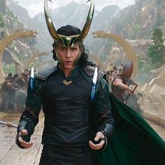 Tom Hiddleston as Loki in Thor: Ragnarok!!!!! OMGOODNESS!!!! Video: https://www.youtube.com/watch?v=v7MGUNV8MxU