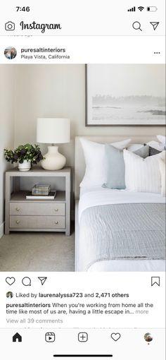 Neutral Palette, Bedroom Colors, Nightstand, Master Bedroom, House Design, Interior Ideas, Lighter, Furniture, Bliss