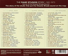 The Fame Studios Story 1961-73  Triple CD collection of tracks that represent the best of from the Fame Label known for releasing the some of the greatest Southern Soul artists like Clarence Carter, Etta James, Wilson Pickett, and Otis Redding.  http://www.musicdownloadsstore.com/the-fame-studios-story-1961-73-2/