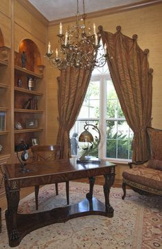 Arched Draperies traditional window treatments