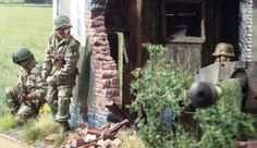 June the 6th 1944 Normandy battle scene photos by Guy Meire