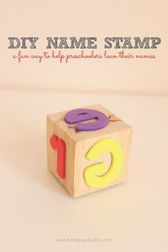 A Homemade Name Stamp - perfect for my little preschooler!