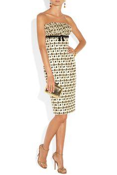 Giambattista Valli|Leopard-print silk-shantung and chiffon dress|NET-A-PORTER.COM
