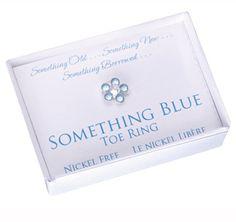 Something Blue Wedding Toe Ring