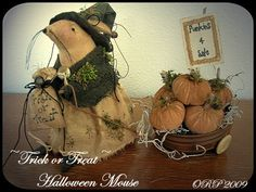 Trick+or+Treat+Halloween+Mouse+Instant+by+OldRoadPrimitives,+$7.50