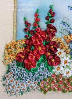 ribbon embroidery by Beata Andrianova, Russia   http://beata-a.gallery.ru/