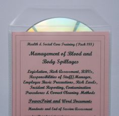 Infection Control BODY FLUID HAZARDS & SPILLAGES Health and Social Care Settings - PowerPoint presentation with Word documents (printable from the CD - hand-out and end of session assessment. Covers all mandatory requirements as well as underpinning knowledge.This training pack looks at the management of blood and bodily fluid spillages in health and social care settings.