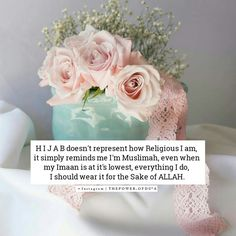 Muslimahs wear hijab for the sake of ALLAH