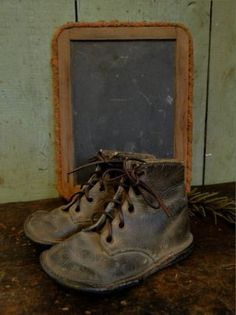 just imagine the little feet walking to school carrying a slate...