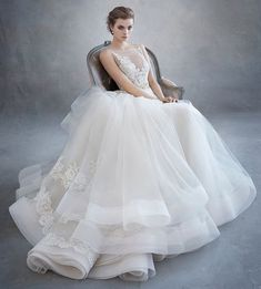 Bring your favorite colors into your special day with these Wedding Color Theme ideas. Lazaro Wedding Dress, Lazaro Bridal, Wedding Gowns, Lace Back Dresses, Flower Girl Dresses, Minimalist Wedding Dresses, Wedding Dress With Pockets, Dress Alterations, Royal Brides