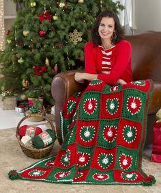 Holiday Hearts Throw Crochet Pattern  #crochet  #christmas