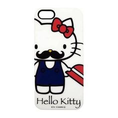 ★funbox生活用品★《Sanrio》HELLO KITTY翹鬍子系列 iPhone5保護殼_GD71969