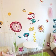 Beautiful folk inspired Princess In my Garden fabric wall stickers by Helen Dardik for Chocovenyl. Removable & easy repositionable, PVC free, look! Wall Stickers, Wall Decals, Vinyl Sales, Interiors Magazine, Kids Room Design, Fabric Textures, Queen, Kids Decor, Furniture Decor