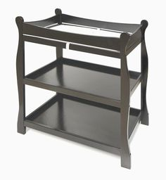 Sleigh Style Wood Baby Infant Changing Table Nursery Furniture Black NEW