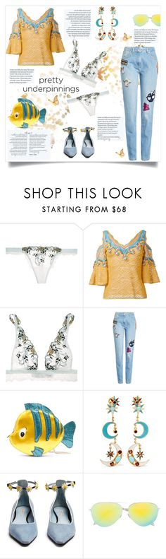 """The Prettiest Underpinnings"" by celeste-menezes ❤ liked on Polyvore featuring La Perla, Peter Pilotto, Kenzo, Danielle Nicole, Diego Percossi Papi, Fabrizio Viti, Victoria Beckham and prettyunderpinnings"