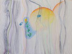 pattern I ein Aquarell von Jens Kunik aus dem Jahr 2000